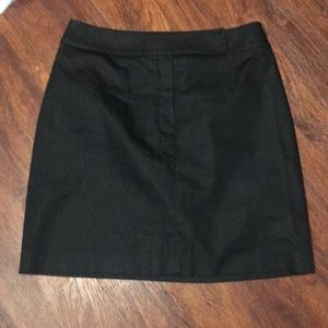 Ann Taylor Black Stretch Mini Skirt Size 6.
